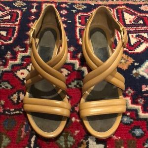 "Tan Leather Ferragamo ""Sienne"" Sandal Size 7.5"